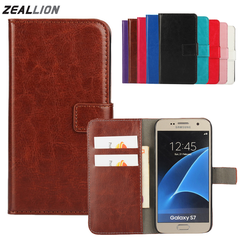 For Samsung Galaxy S3 S4 S5 S6 S7 S8 S9 Edge Plus J1 J3 J5 J7 A3 A5 2017 EU Note8 <font><b>Case</b></font> Holster Flip Crazy-Horse PU Leather Cover image