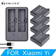 лучшая цена 4Pcs Original AZ16-1 Battery FOR Xiaomi YI lite 4K 4K+LED USB Dual Charger for Xiaomi Yi 2 4K Battery Xiao Mi Yi