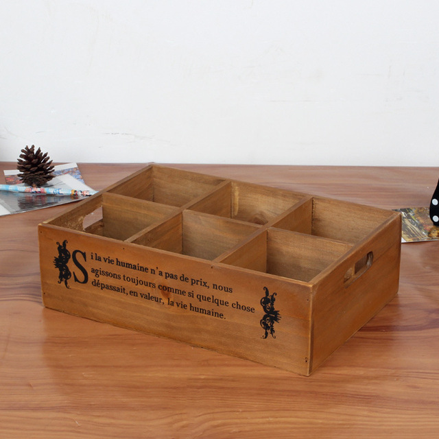 Wooden Storage Box Bin Case Office Desktop Storage Organizer Wooden Craft  Boxes Home Jewelry Storage Boxes
