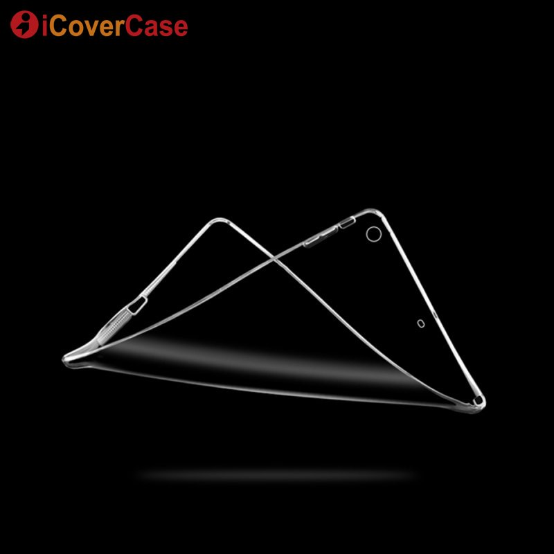 Case For iPad Air 2 Soft Silicone Protective Cover Shell Clear TPU Case For Appl