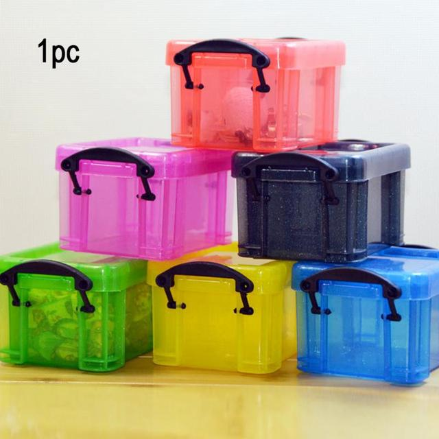 Crystal Transparent Candy Color Storage Box Jewelry Box Mini Storage Box & Crystal Transparent Candy Color Storage Box Jewelry Box Mini Storage ...