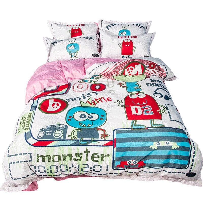 Maison Textile dessin animé Robot ensemble de literie chien impression 100% coton enfants garçon linge de lit housse de couette ensemble reine unique 4 pièces