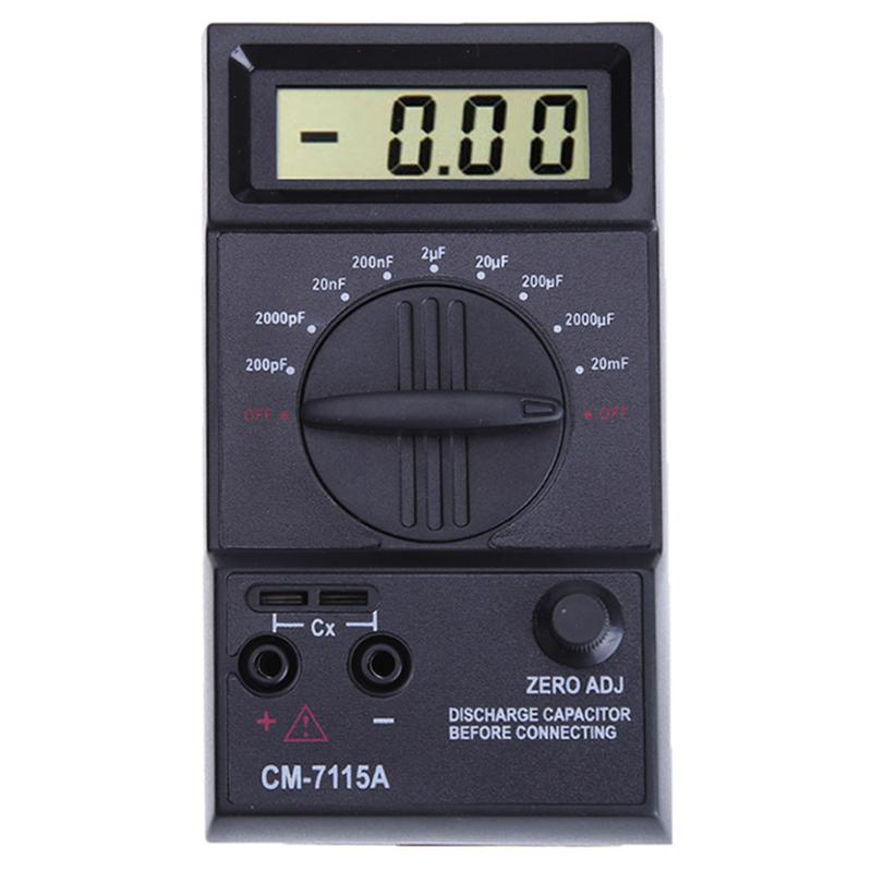 New Arrival CM7115A Practical Capacitance Capacitor Meter Tester Digital Multimeter with Test Leads феникс презент
