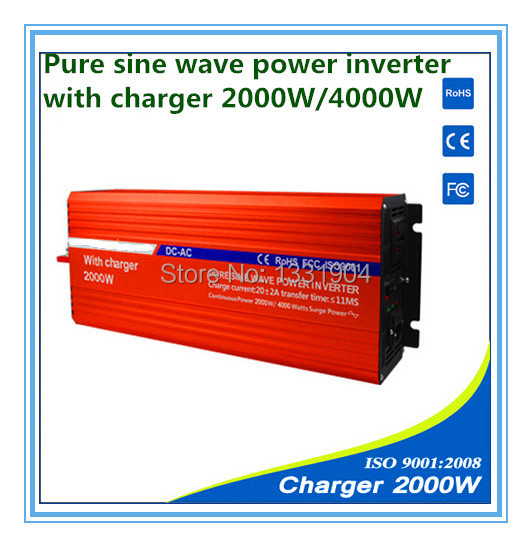 <font><b>12V</b></font> to 220V <font><b>2000W</b></font> <font><b>Pure</b></font> <font><b>Sine</b></font> <font><b>Wave</b></font> Power <font><b>Inverter</b></font> With Buildin Charger with Automatic Transfer Function for solar image