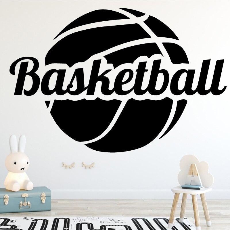 Autocollant mural drôle d'art De mode De basket-ball pour des accessoires d'intérieur De décoration De stade De chambre De garçons
