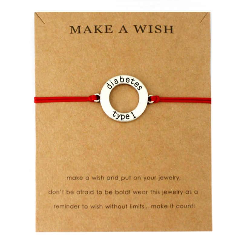 Диабетический тип 1 Сигнальный Браслет аутиста c пазлами талисманы браслеты для женщин мужчин любовь дружбы Модные украшения Рождественский подарок
