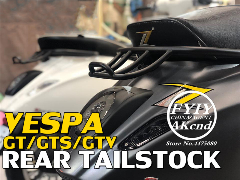 Motorcycle tail rack Tailstock motorbike sports style back For vespa piaggion GTS Sport GT GTV 300 946 black tailstock
