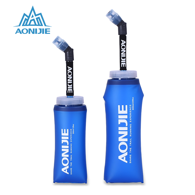AONIJIE Running TPU Water Bag Foldable Soft Bottle untuk Air Outdoor Sport Camping Flask With Bottles Long Straw Bladder