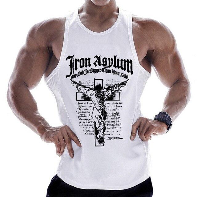2019 new gyms clothing cotton bodybuilding tank top bodybuilder mens ropa hombre tops singlet erkek sleeveless singlet men 5