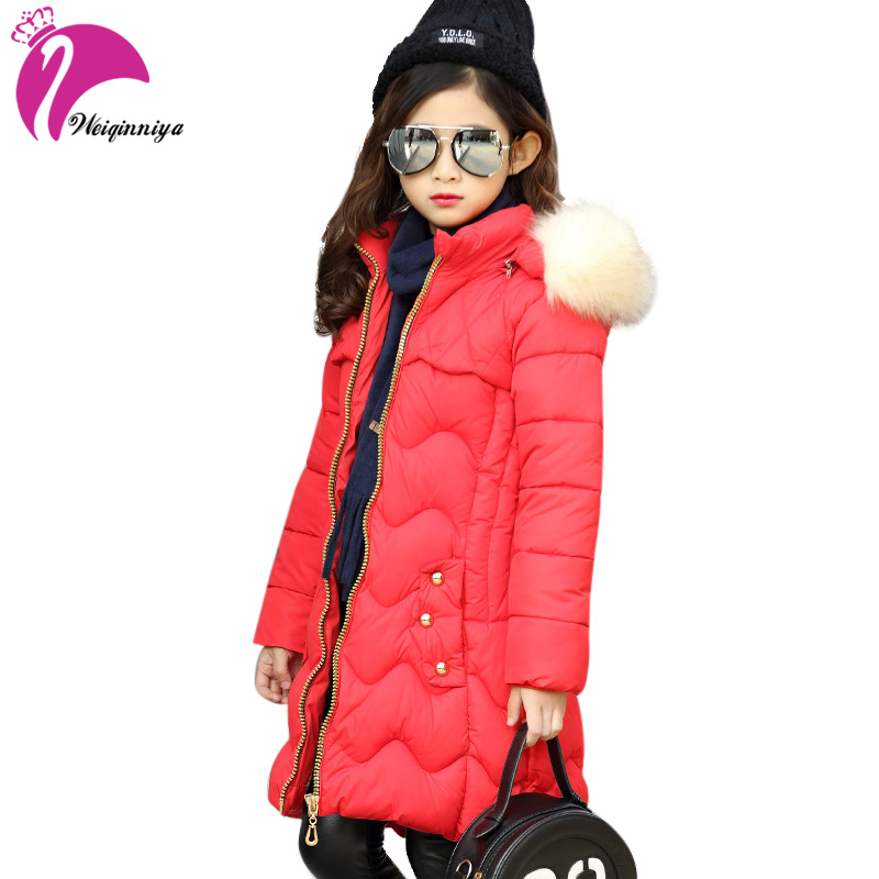 Winter Coat For Girls Children Fur Hooded Long Sleeves Letter Print Warm Kids Clothes Outwear Zipper Jacket Clothing цена