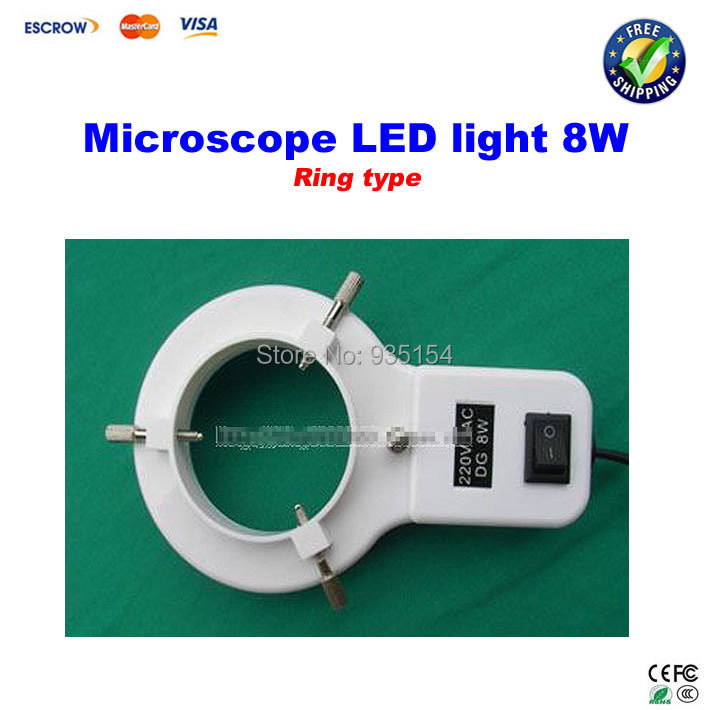 8W Ring type LED light Microscope Lamp Fluorescent Tube Annular tubes Ring Adjustable LED Lamp light microscope ring light microscope d fluorescent lamp