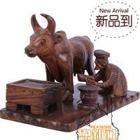 Pakistan wood carving art ornament handmade shepherd milking antique wooden modern mahogany furniture decoration