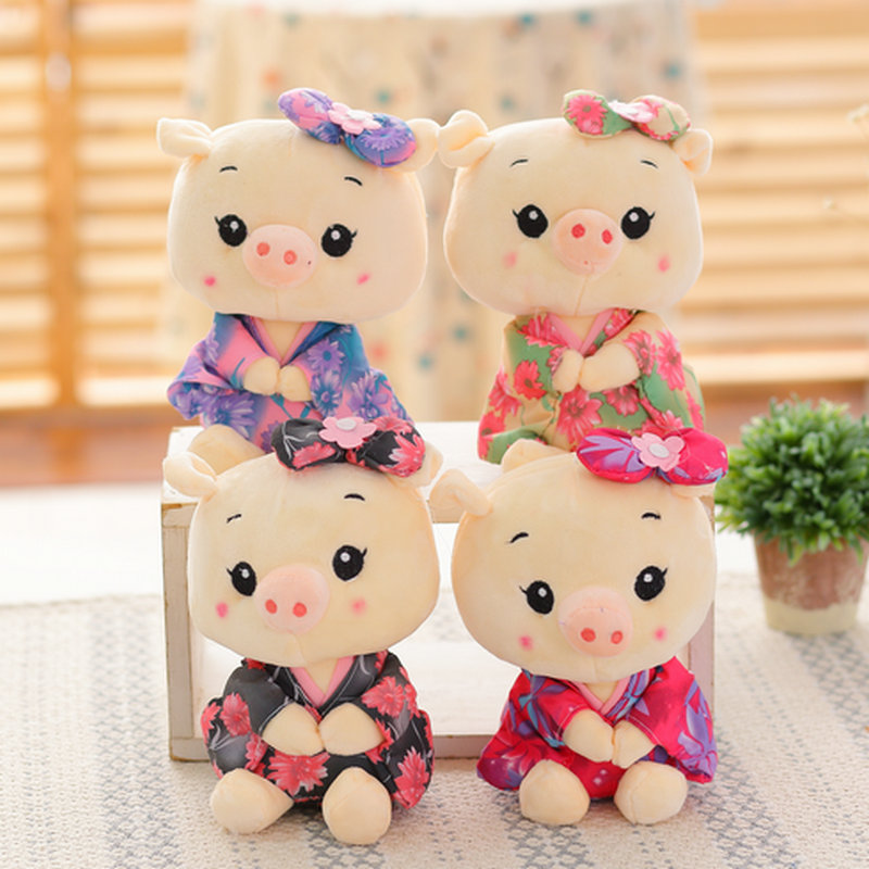 20cm Wholesale Sitting Pig Plush Toys Pig cloth Doll Animals Stuffed plush Children Doll Kids doll Wedding Gift 30cm cute korea pororo little penguin plush toys doll pororo with glasses plush soft stuffed animals toys for children kids gift
