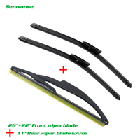 Senwanse Front and rear Wiper Blades For Renault Scenic 2 / Grand 2005-2009 High quality Windshield Windscreen wiper 26