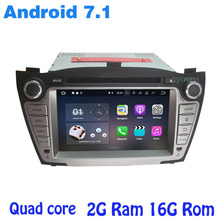 Android 7.1 Quad core Car dvd gps for Hyundai Tucson ix35 2009-2014 with wifi 4G usb bluetooth mirror link auto Stereo