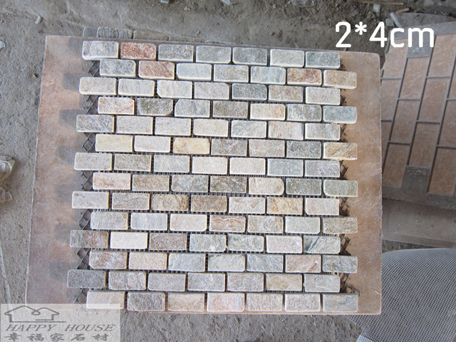 Leisteen tegel hout mozaïek badkamer keuken tegels achtergrond