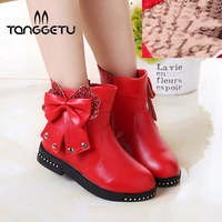 Tanggetu 2018 New Fashion Autumn Winter Kids Shoes For Girls Cute Warm Boots High Quality Baby