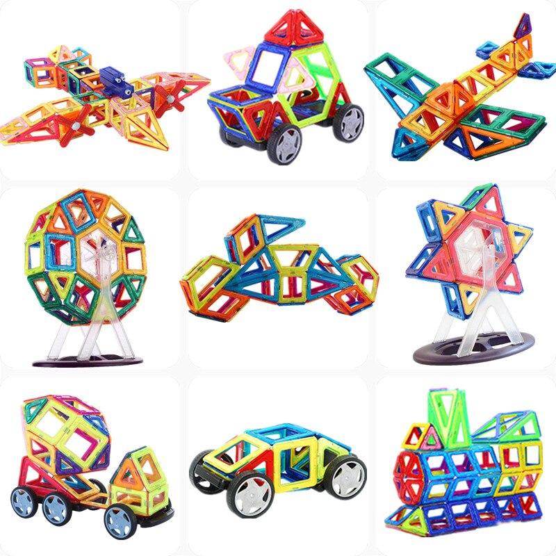 マグネットコンストラクタービルディングブロック111PCS 3D教育DIYミニキットマグネットデザイナーアクセサリーおもちゃ子供向けクリスマスギフトКубики