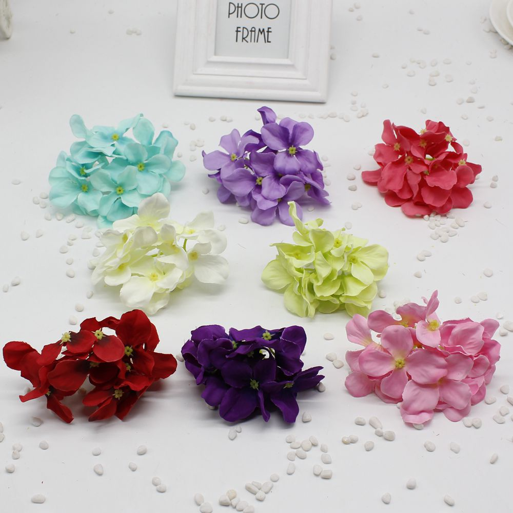 2psc lot big silk artificial hydrangea flower for wedding for Wedding day room decoration