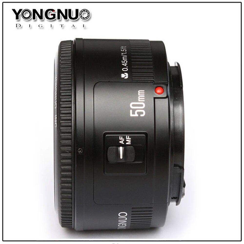 Objectif YONGNUO YN50mm F1.8 objectif de caméra reflex numérique YONGNUO à grande ouverture pour canon pour Nikon D800 D300 D700 D3200 D3300 D5100 - 2