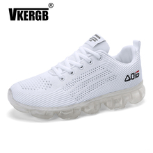 New Man Shoes Lace Up Mesh Upper Fashion Spring Autumn Male Breathable Comfortable Casual Shoe Men Running platform Thick bottom