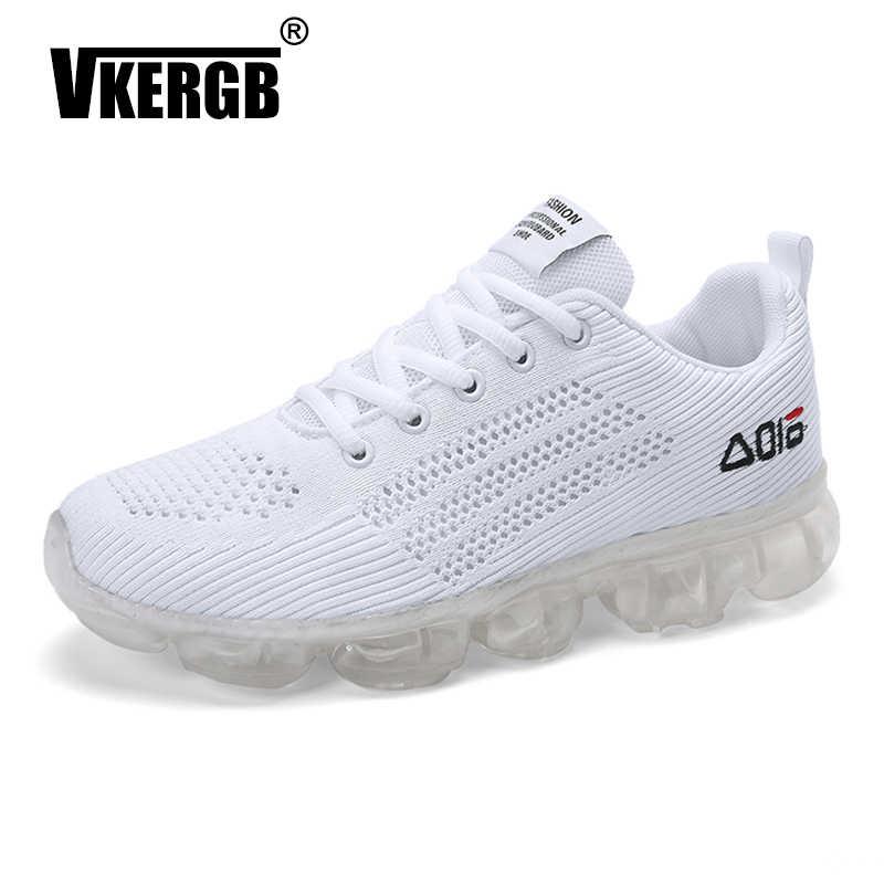 Novo Homem Sapatos Lace Up Malha Superior de Moda Primavera Outono Masculino Respirável Confortável Sapato Casual Homens Tênis plataforma fundo Grosso