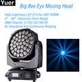 Новый 37x15 Вт LED большой пчелиный глаз движущиеся фары для мытья луча FX Эффект диско DJ сценическое освещение DMX управление Вечеринка клуб стро...