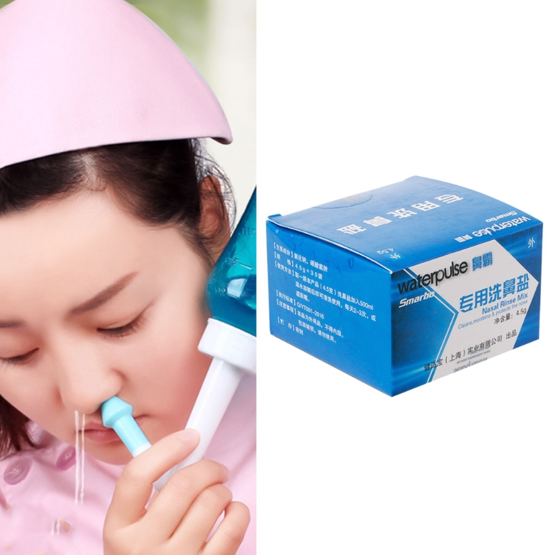 Nose Care 30 Bags Nose Care Wash Rhinitis Salt 1 Box Cleaning Avoid Allergic Dec23