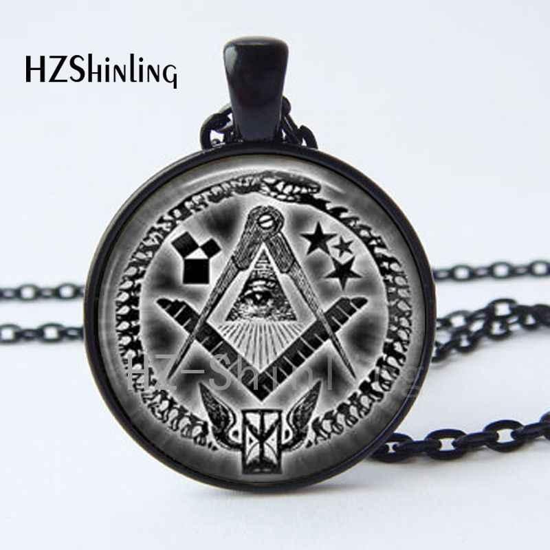 ¡Novedad! Collar con colgante Illuminati, satanismo, satánico, Baphomet, francmasón, colgante de pentagrama, collar de fotografía artística HZ1