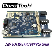 2017 newest 1CH AHD DVR PCB Board 720P Real time 1CH mini dvr module support 128GB sd Card Security Digital Video Recorder