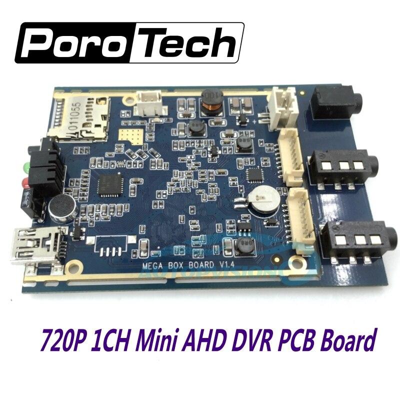 2017 plus récent 1CH AHD DVR carte PCB 720 P en temps réel 1CH mini dvr module support 128 GB carte sd sécurité enregistreur vidéo numérique