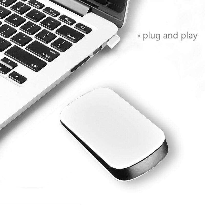 2,4g silencioso Delgado óptico inalámbrico toca Mouse para PC Microsoft Laptop escritorio EM88