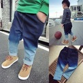 Fashion 2015 Boy girls gradient ramp jeans children Casual Denim Jeans Vintage Jeans Hot Sale