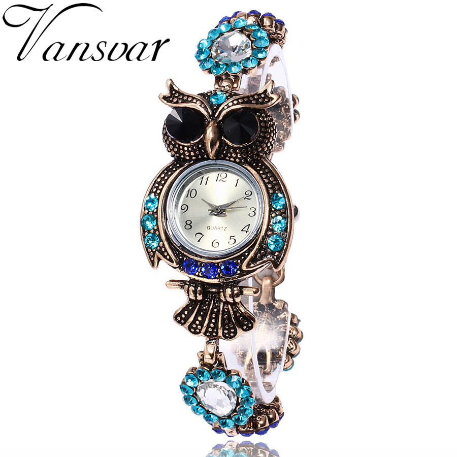 Vansvar Brand Luxury Crystal Bracelet Watches Fashion
