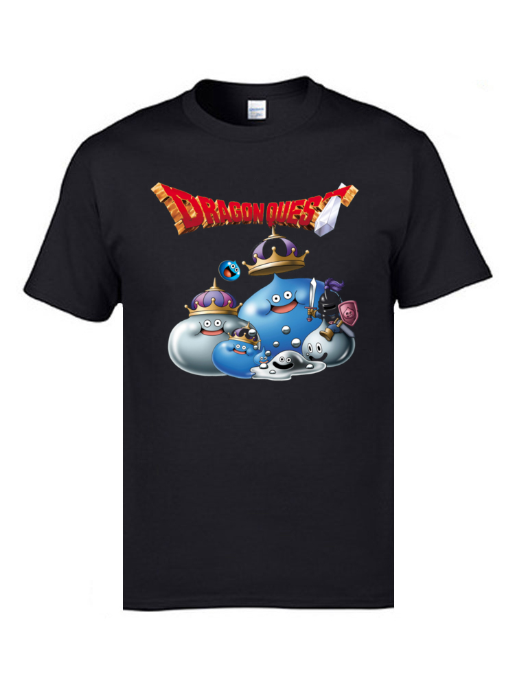 Doragon Kuesuto RPG T-Shirts Fc Dragon Quest Men's Funny Video Game T Shirts Casual Sweatshirts 100% Cotton Teenage Tshirts image