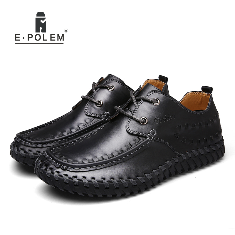 2017 Spring Autumn England Style Genuine Leather Men Shoes Fashion Male Business Casual Breathable Lace-Up Comfortable Shoes high quality compatible projector bulb poa lmp59 fit for plc xt16 plc xt3000 plc xt3200