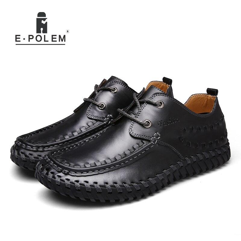 2017 Frühling Herbst England Stil Aus Echtem Leder Männer Schuhe Mode Männlichen Business Casual Atmungsaktive Lace-up Bequeme Schuhe