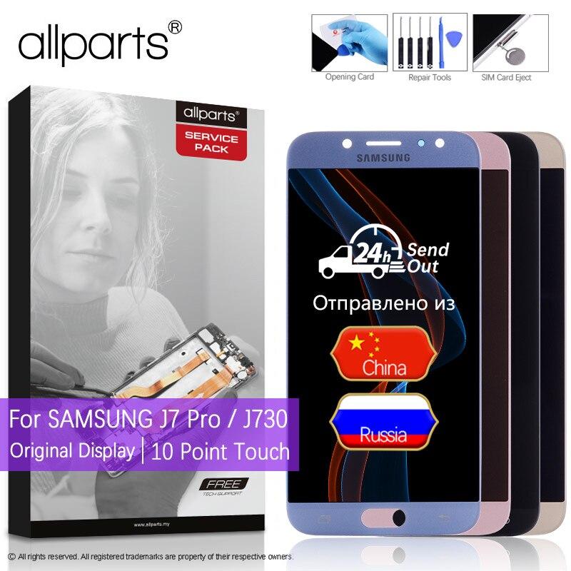 2017 5.5'' AMOLED Оригинальный тачскрин дисплей экран для SAMSUNG Galaxy J7 Pro Дисплеи в сборе с тачскрином для самсунг J7 Pro LCD J730 J730F J730M J730G J730GM DS FM SM-J730