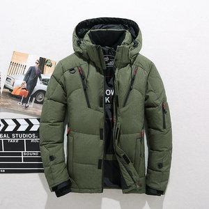 Image 2 - Di spessore Caldo Cappotto di Inverno Degli Uomini Con Cappuccio casual Man Outdoor Imbottiture Giacca Parka di Modo Giacca A Vento Cappotto Uomo