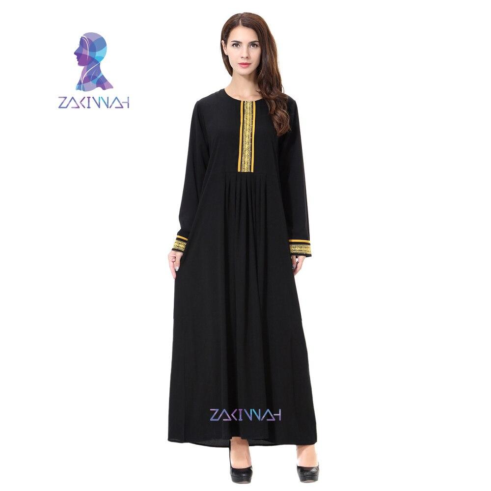 Zakiyyah تصميم جديد المسلمات اللباس السيدات عارضة الملابس التركية النساء السيدات القفطان العباءة العربية 2017