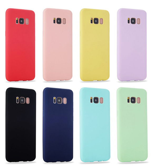 Soft Silicone Colors Case for Samsung galaxy S5 Neo S4 Samsung S8 S9 Plus S6 S7 edge S8Plus S9Plus Cell Phone Cover coque