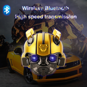 Image 3 - Bumblebee Helm Bluetooth Speaker Fm Radio Usb Mp3 TF Smart Subwoofer Blue Tooth 5.0 Draagbare Mini Draadloze Stereo Luidsprekers