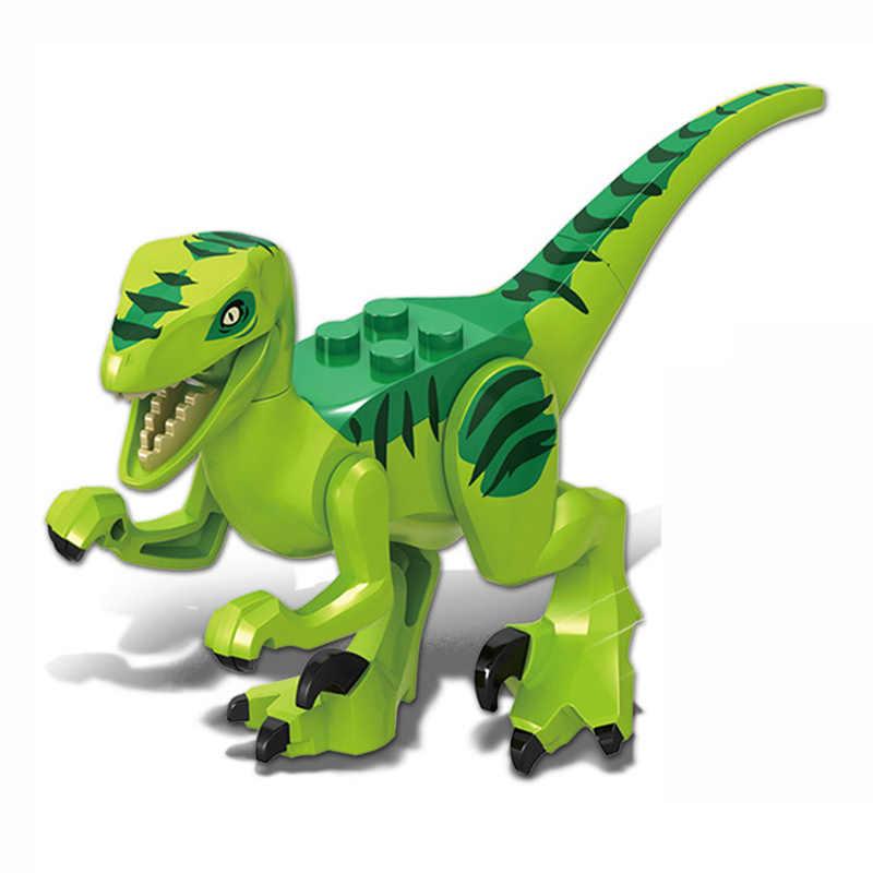 Para proteção Raptor Pterosauria Velociraptor Jurassic Dinossauro Parque de Dinossauros Mundo Conjunto de Blocos de Construção Crianças Brinquedos juguetes