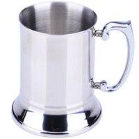 Kitchen Bar Drinkware Mugs Stainless Steel Handle Beer Mug