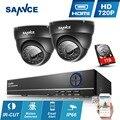 Sannce 4ch 960 h cctv dvr 900tvl ir ao ar livre câmera noite kits de Sistema de Segurança em casa de 4 Canais 720 P Vigilância 1 TB HDD opcional