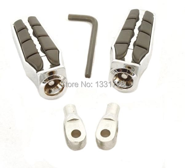 Chrome Wing Foot Pegs Rests For 1995-2006 Suzuki Boulevard S83 (Front)