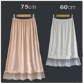 Decoración del cordón del busto falda básica slip interior modal medio básico de la falda falda media