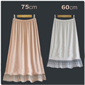Lace decoration bust skirt basic skirt slip inside modal basic half skirt medium skirt