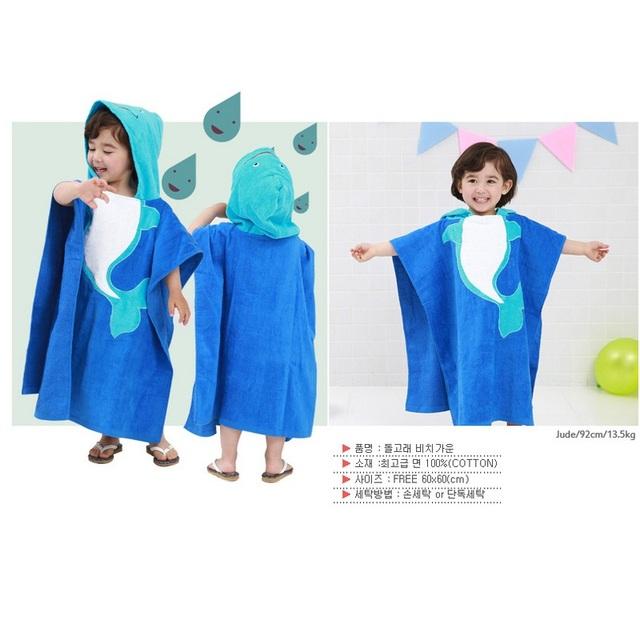 10 Colores Con Capucha Animal modelado Bebé Albornoz/Bebé de la Historieta Toalla/Personaje kids bath robe/toallas de baño infantiles cabo del capote