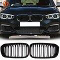 Posbay матовая черная двойная Решетка переднего бампера грили для BMW 1-Series F21 120i/125d/125i/116i 3-door 2015-2017 Facelift